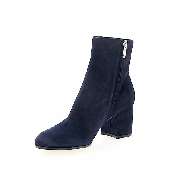Gianvito Rossi Ankle Boots Margaux Mid Bootie Suede Blue