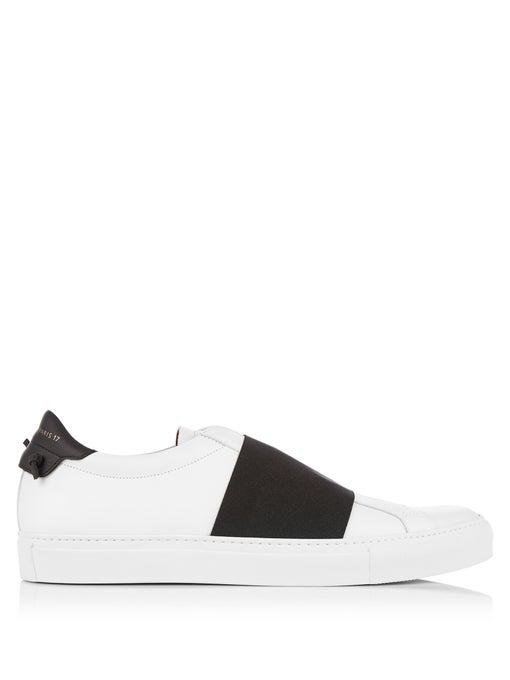 Givenchy Sneaker Slip On Skate Elastic Leather White Black