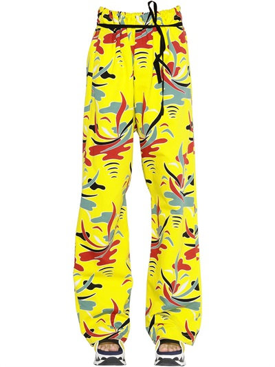 Marni Carioca Printed Cotton Drill Pants In Yellow/Multi