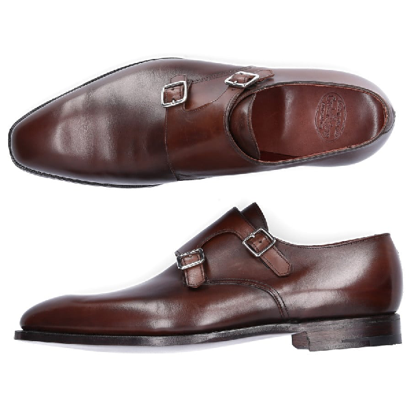 Crockett & Jones Monk Shoes Seymour Calfskin Brown