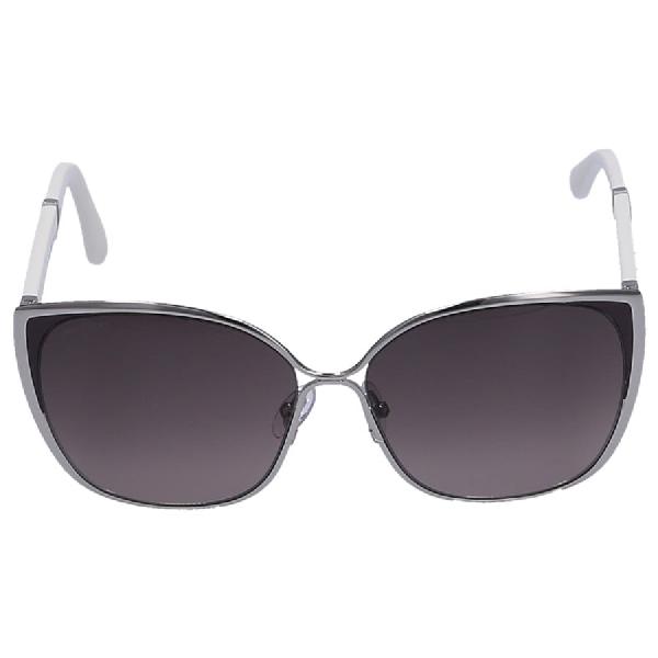 Jimmy Choo Women Sunglasses Oversized Maty/S 17Cvs Acetate White