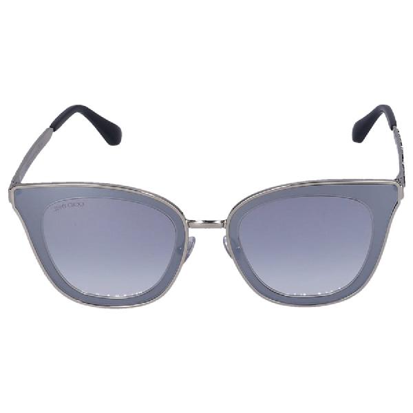 Jimmy Choo Women Sunglasses Wayfarer Lory/S Yk9Nq Metal Silver