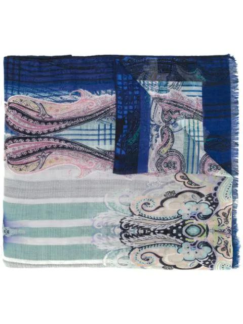 Etro Abstract Print Scarf - Multicolour