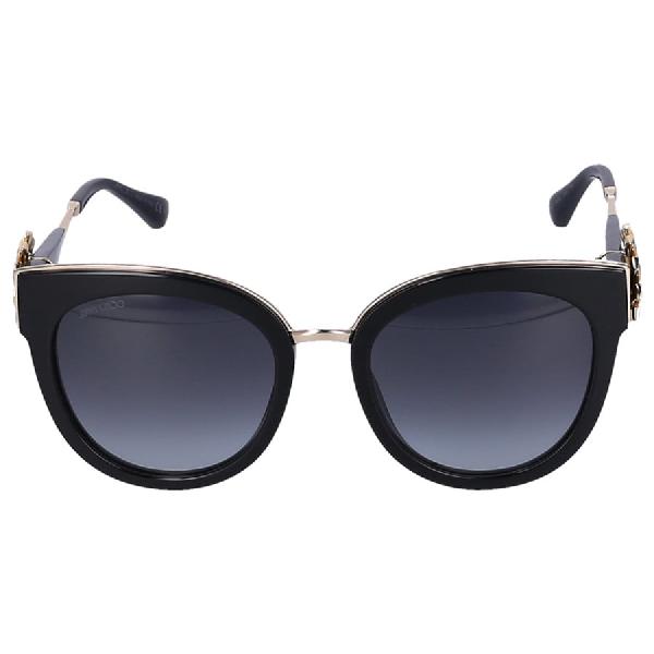 Jimmy Choo Women Sunglasses Cat Eye Jade/S 1A5 Acetate Black