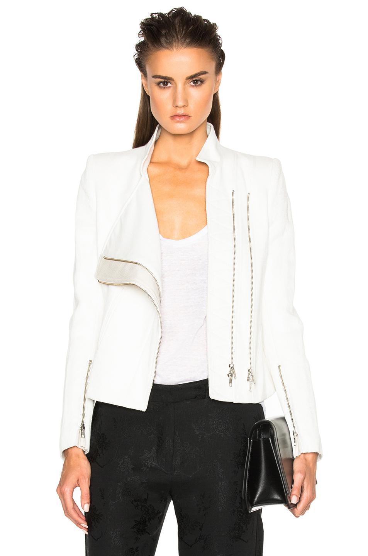 Ann Demeulemeester Jacket In White
