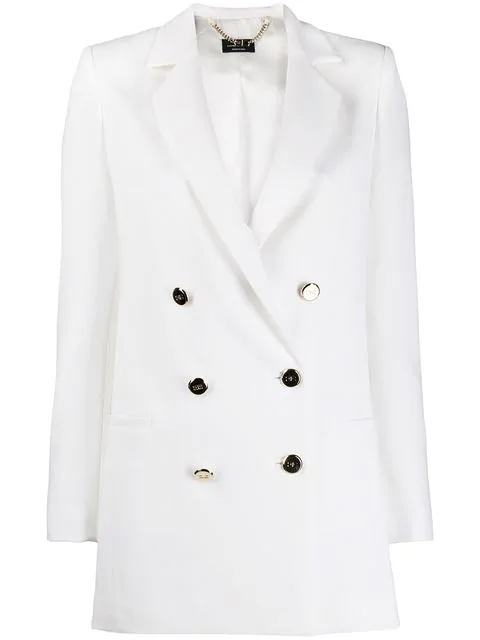 Elisabetta Franchi Double-breasted Blazer In White