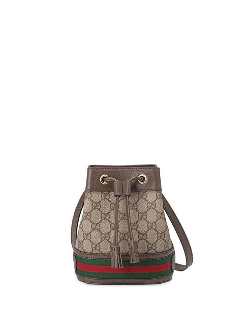 3218a5915 Gucci Ophidia Mini Gg & Web-Stripe Canvas Bucket Bag In 8745 Beige/ Brown