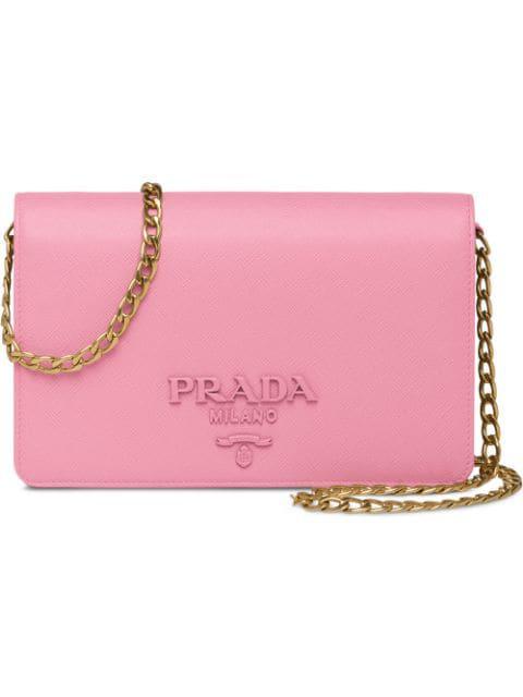 Prada Small Monochrome Crossbody Bag - Pink