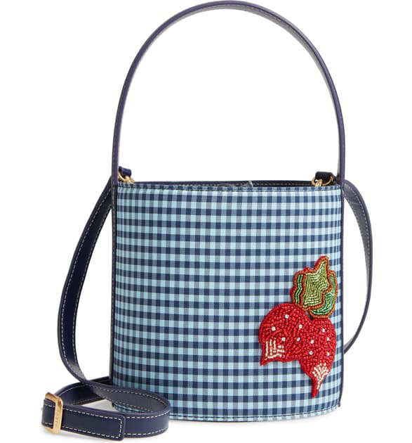 Staud Bissett Bucket Bag - Blue In Dew Blue/ Twilight