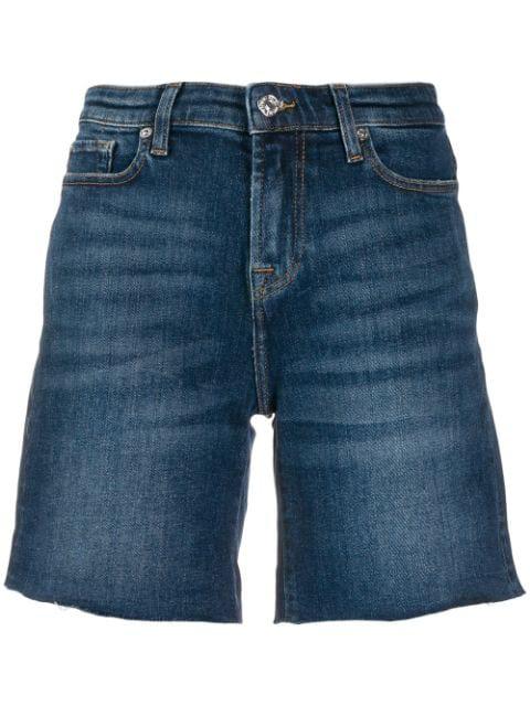7 For All Mankind Denim Shorts In Sundaze