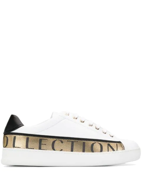 Versace Sneakers With Logo In White