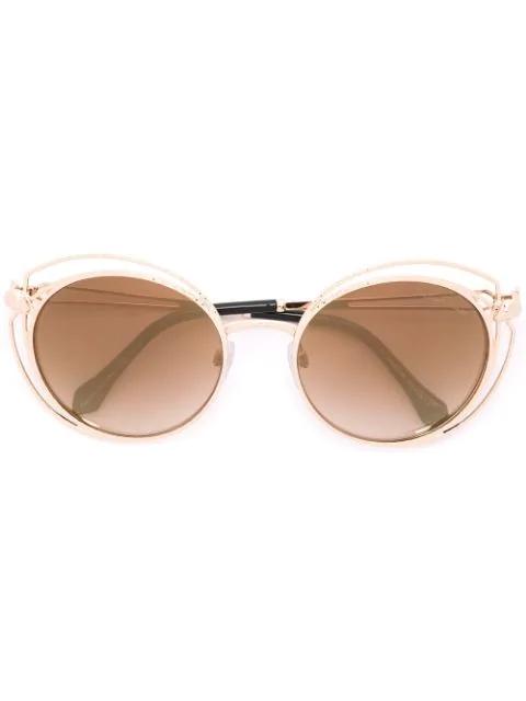 Roberto Cavalli 'cascina' Sunglasses - Metallic