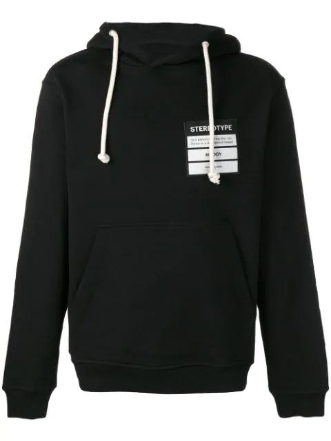 Maison Margiela Stereotype Black Cotton Sweatshirt