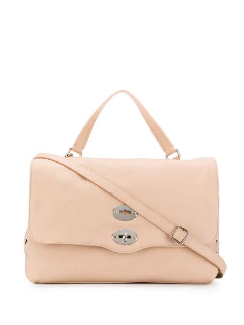 Zanellato Postina Leather Tote Bag In Pink
