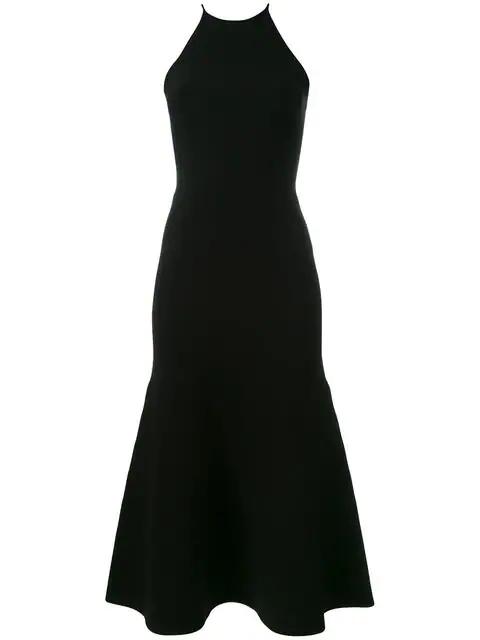 Alexander Wang Cutout Lace Back Knit Dress In Black
