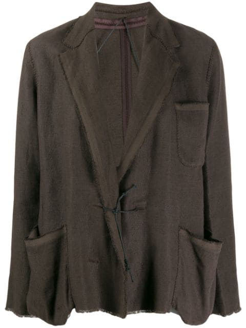 Lanvin 2003 Loose-fit Jacket In Brown