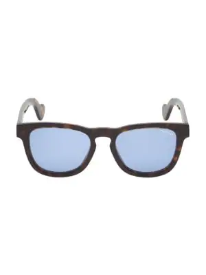 Moncler Men's 54mm Square Havana Sunglasses
