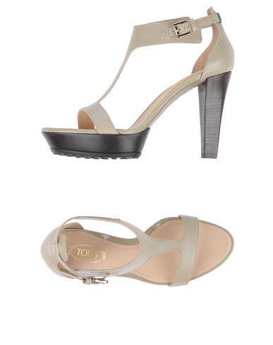 Tod's Sandals In Light Grey