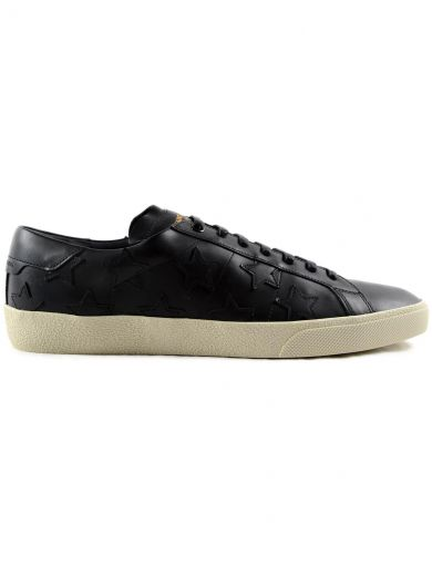 Saint Laurent Signature Court Classic Sneakers - Black