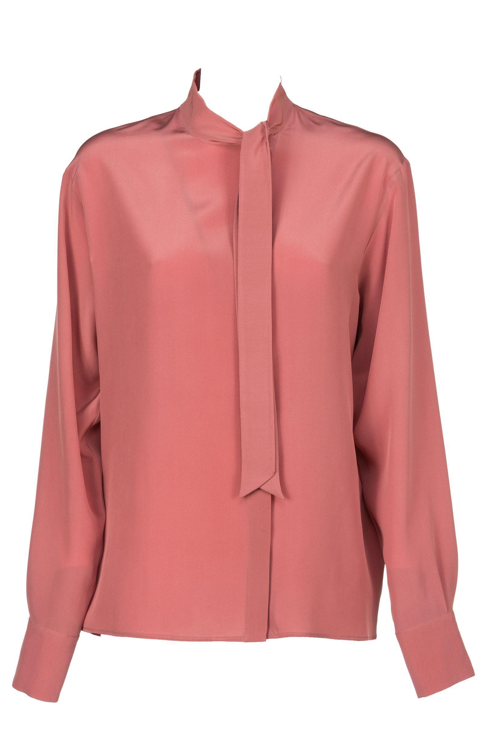 Bottega Veneta Silk Shirt In Dusty Rose