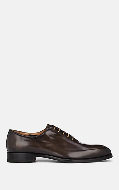 Harris Burnished Leather Oxfords - Dk. Brown In Dk.Brown