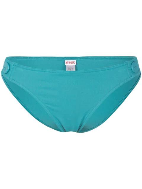 Eres Button Detail Bikini Bottoms In Blue