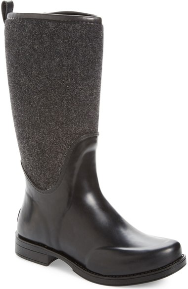 Ugg Reignfall Waterproof Rain Boot In Black