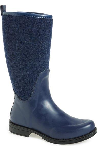 Ugg Reignfall Waterproof Rain Boot In Navy