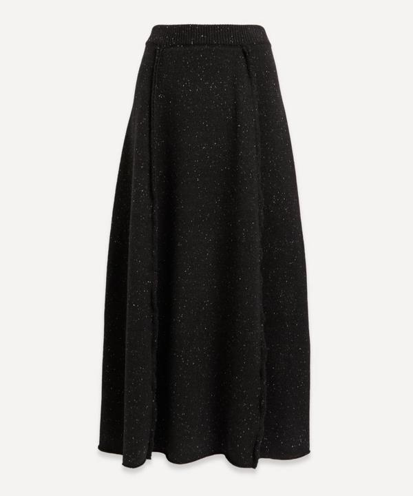 The Row Arlette Wool Midi-skirt In Black