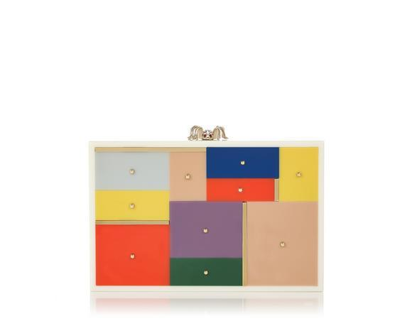 Charlotte Olympia Mosaic Minaudiere In Perspex%2Fmetal_960_Multi%20Colour