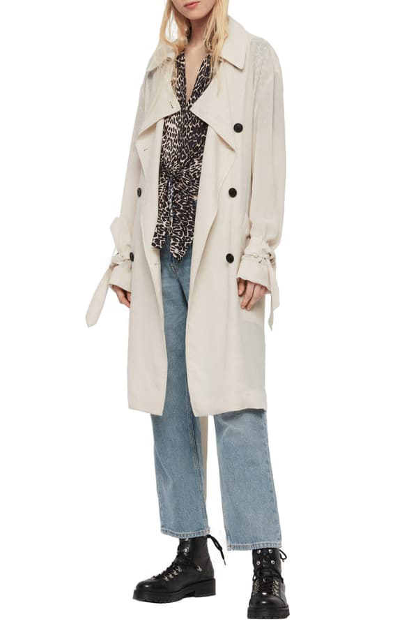 the best attitude 2a26f 9d928 Bria Trench Coat in Oyster White