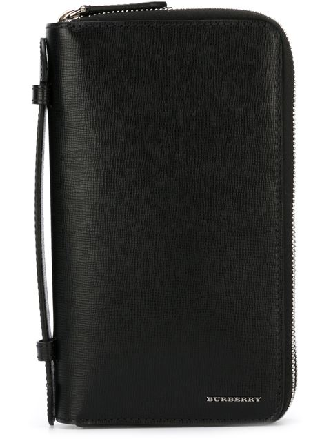 Burberry London Leather Travel Wallet - Black