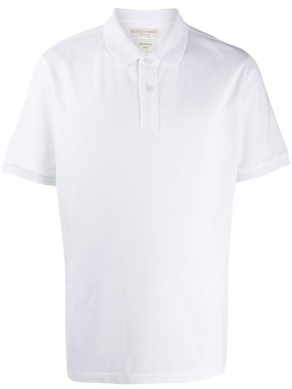 Bottega Veneta Ribbed Collar Polo Shirt In 9122 Opptwt