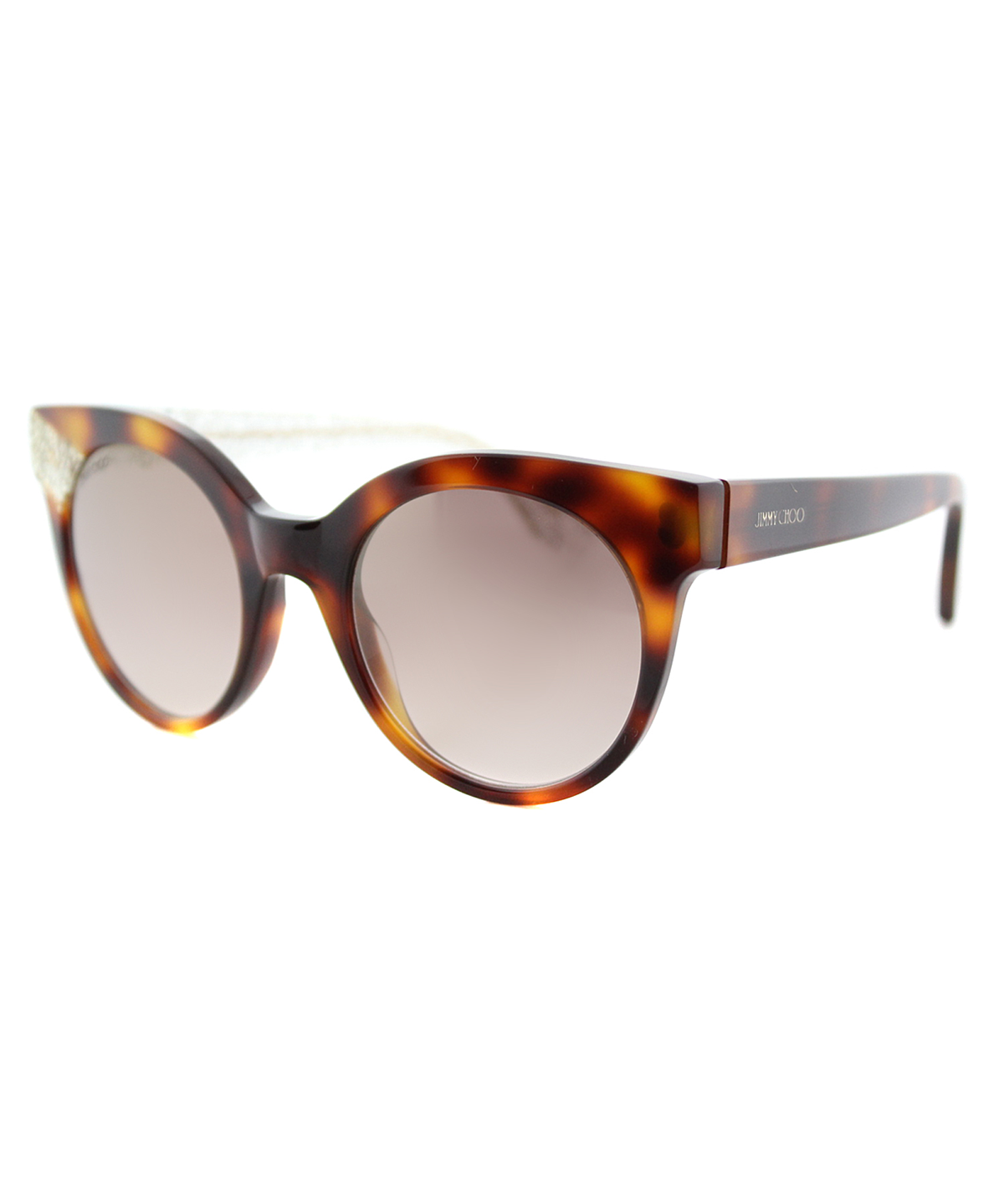 Jimmy Choo Cat-eye Plastic Sunglasses In Havana