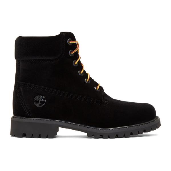 Off-white + Timberland Velvet Boots - Black In 1000 Black No Color