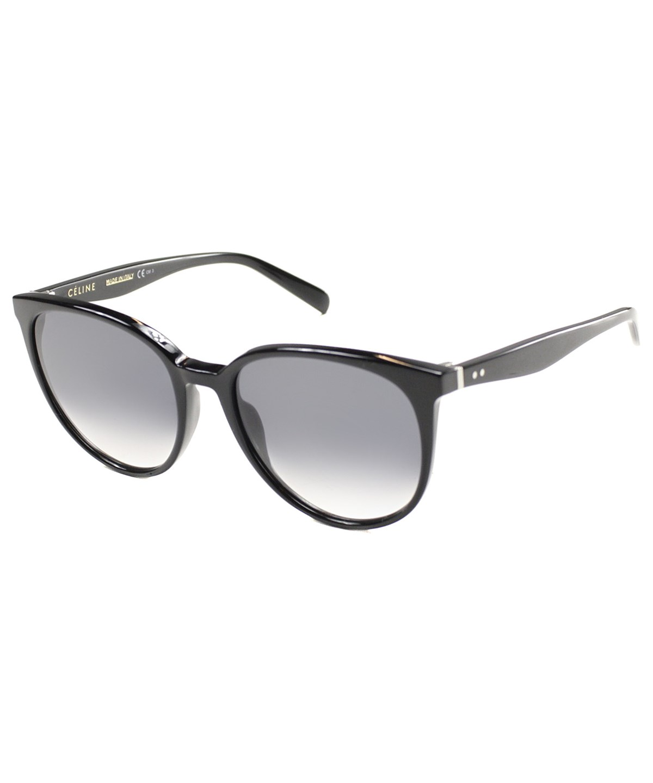 095bec3f83ca CELINE. Celine Cl 41068 807 Oval Plastic Sunglasses in Black