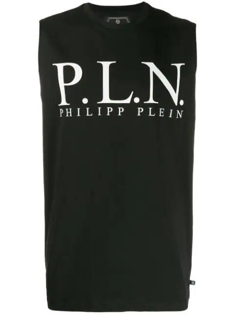 Philipp Plein Tank Top P.l.n. In Black