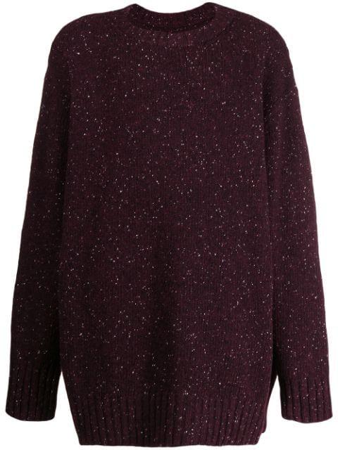 Maison Margiela Slouchy Knit Sweater In 359 Bordeaux