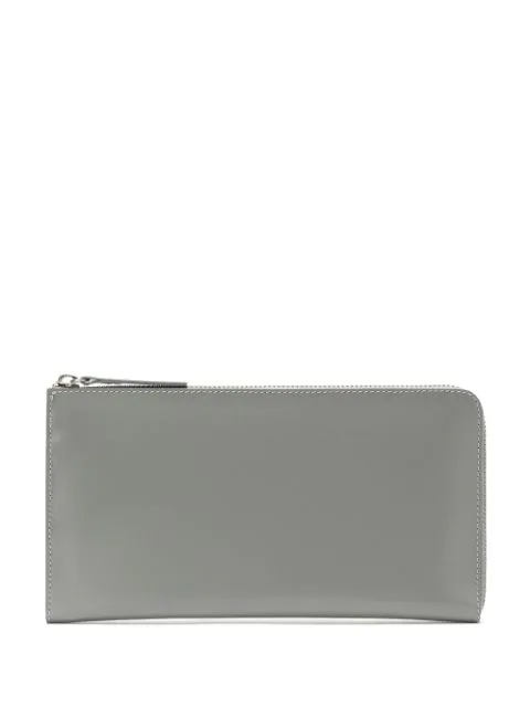 Sarah Chofakian Leather Wallet In Grey