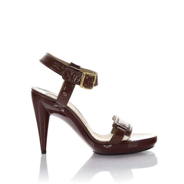 Chloã© Platform Sandals Logo Brown