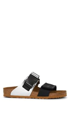 Rick Owens Rotterdam Leather Double-Strap Sandals In Black