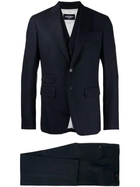 Dsquared2 Three-Piece Suit - Blue