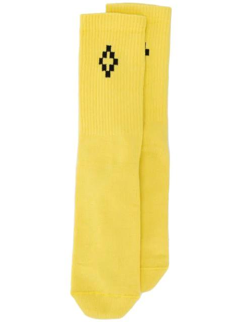 Marcelo Burlon County Of Milan Escape Socks In Yellow
