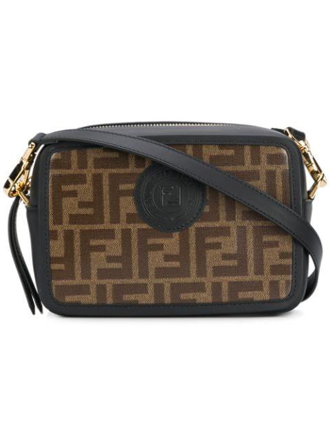 9983fe70 Fendi Women's Leather Cross-Body Messenger Shoulder Bag In Black ...