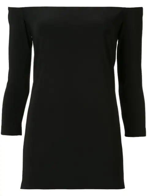 Norma Kamali Off-the-shoulder Blouse In Black