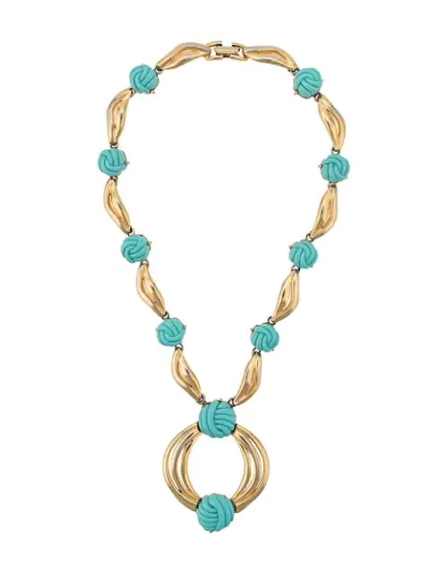 Lanvin Knot Detailed Necklace In Gold
