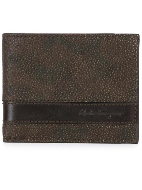 Salvatore Ferragamo Camouflage Embossed Billfold Wallet