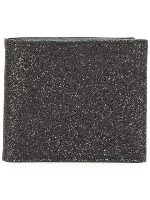 Maison Margiela Glitter Calf Leather Bi-fold Wallet In Na