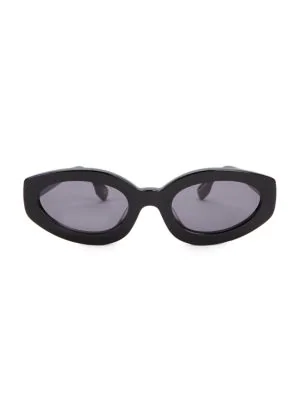 Le Specs Women's Meteor Amour Cat Eye Sunglasses, 53mm In Black/smoke Solid
