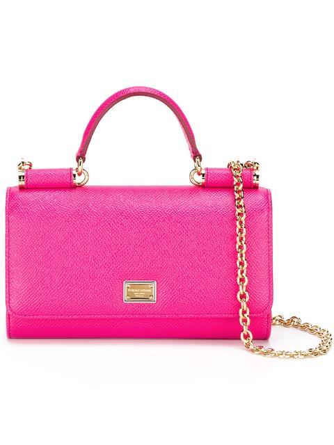 Dolce & Gabbana Mini Von Wallet Crossbody Bag - Pink